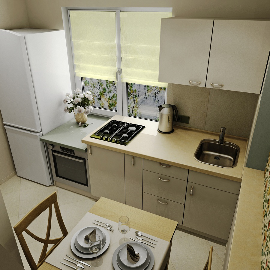 Kitchens On 6 Square Meters Layout Of